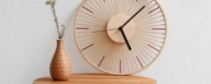 Make A Mid-Century Clock From A Wooden Bowl