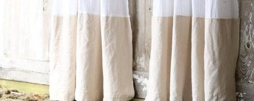 Drop Cloth Material Is An Elegant Farmhouse Look
